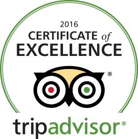 Casa de los Desperados - TripAdvisor certificate of excellence