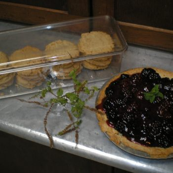 Hawaiian sugar cookies and blackberry pie for dessert