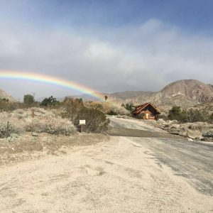 We get the best rainbows up here in the canyon, and it wasn't even raining!
