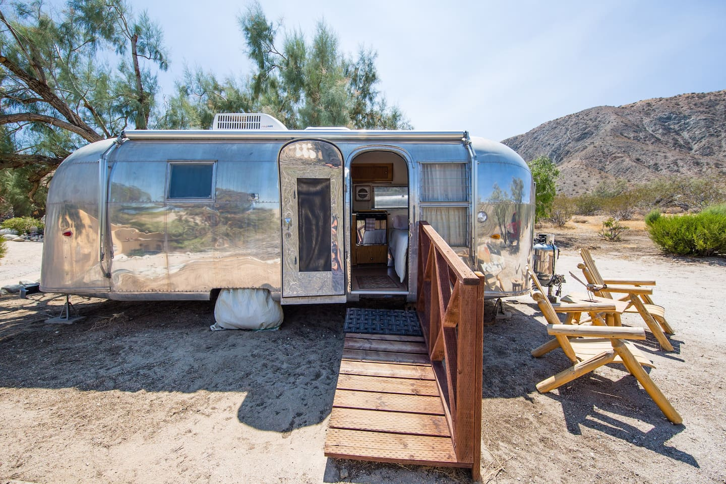 Stay in the vintage Airstream at Casa de los Desperados