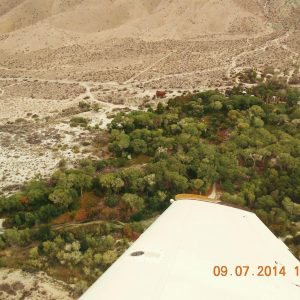 Friend with a plane took this aerial shot of our oasis bed and breakfast near Palm Springs