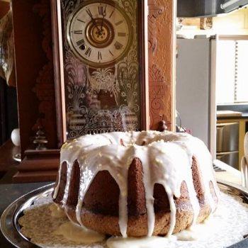 Lemon buttermilk cake made by Chef Wayne King at Casa de los Desperados